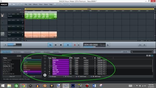 Después de las salas, añadir un sintetizador para mezclarse con la melodía.